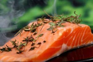 salmon lower cholesterol