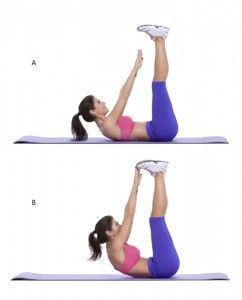 toe touch exercise for belly fat