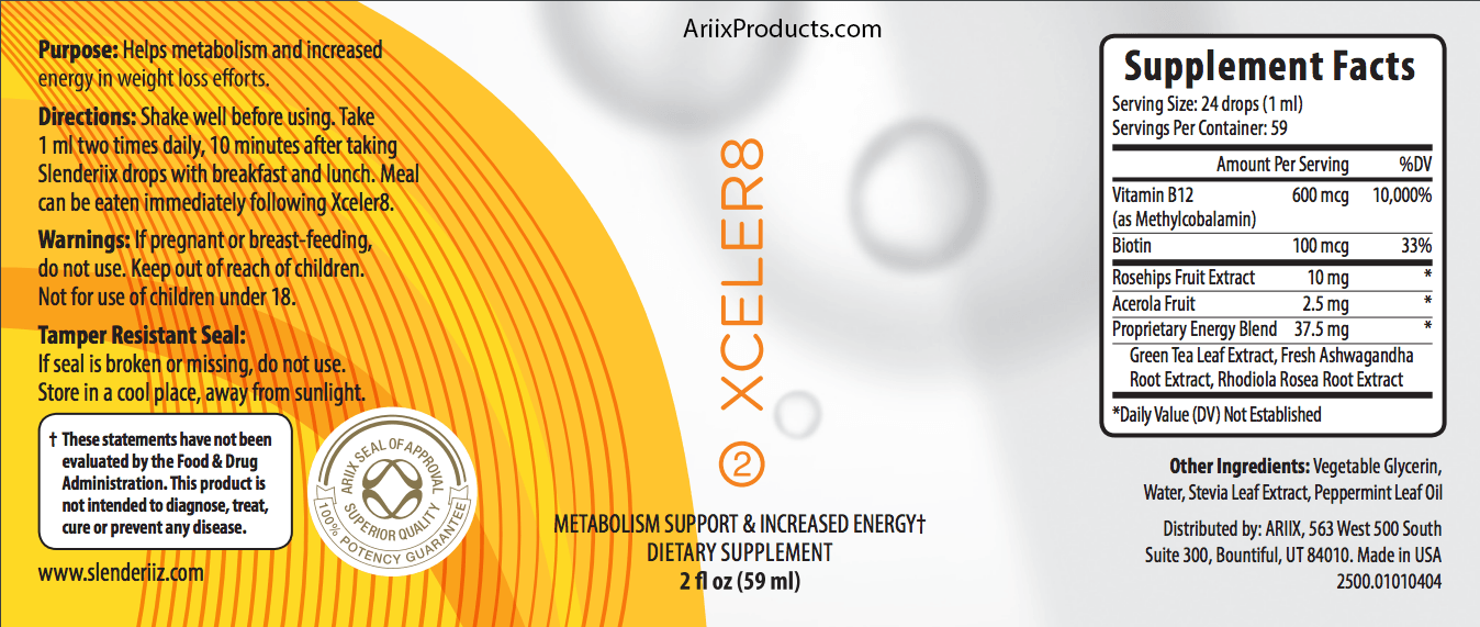Slenderiix & Xceler8 Ingredients