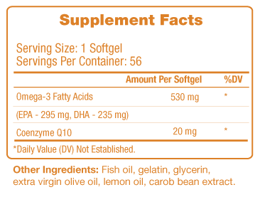 ARIIX Omega-Q Supplement Facts
