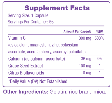 Vinali Supplement Facts