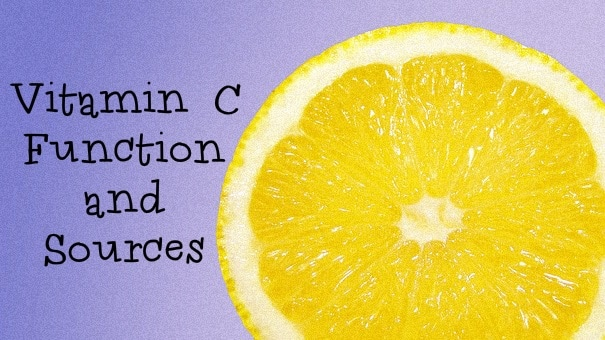 vitamin c function and sources